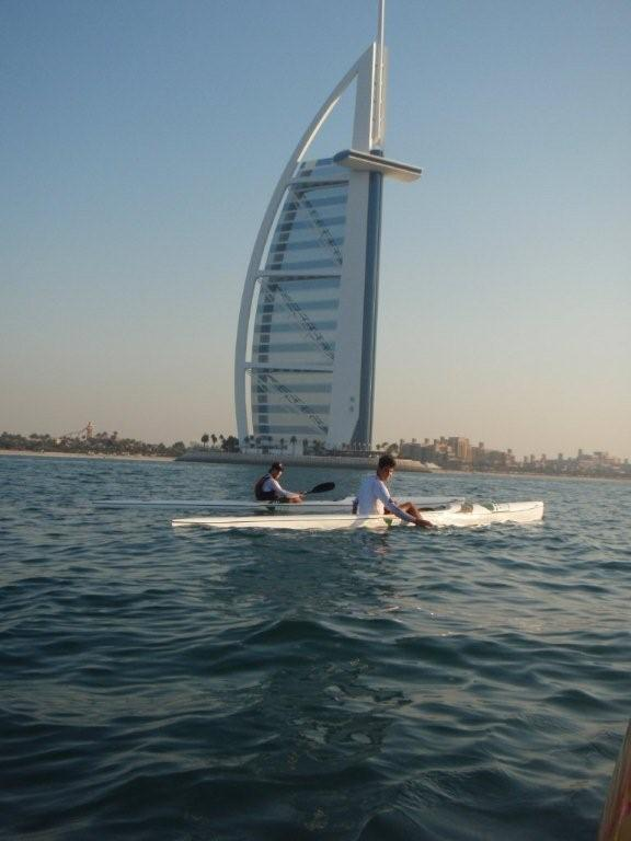 The Burj Hotel from the water-Woodsy and Tom
