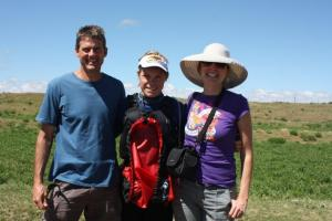 Albert, his wife Michelle and I after Day 1